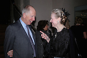 Lord Rothschild  and Raine, Countess Spencer. Masterpieces of American Jewelry at the Gilbert Collection. Somerset House. 14 February 2005. ONE TIME USE ONLY - DO NOT ARCHIVE  © Copyright Photograph by Dafydd Jones 66 Stockwell Park Rd. London SW9 0DA Tel 020 7733 0108 www.dafjones.com