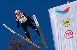 Jurij Tepes of Slovenia during Flying Hill Team competition at 3rd day of FIS Ski Jumping World Cup Finals Planica 2012, on March 17, 2012, Planica, Slovenia. (Photo by Vid Ponikvar / Sportida.com)