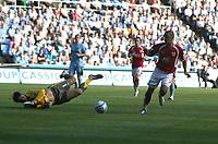 Photo: Mark Stephenson.<br /> Coventry City v Bristol City. Coca Cola Championship. 15/09/2007.Coventry's keeper Dimi Konstantopulos saves Scott Murray's shot