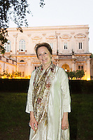ROME, ITALY - 3 JUNE 2015: Chef Alice Waters poses for a portrait at the McKim Medal Gala honouring Carlo Petrini and Paolo Sorrentino at the American Academy  in Rome, Italy, on June 3rd 2015.