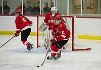 St Pauls School girls varsity hockey versus Kimball Union.  ©2018 Karen Bobotas Photographer