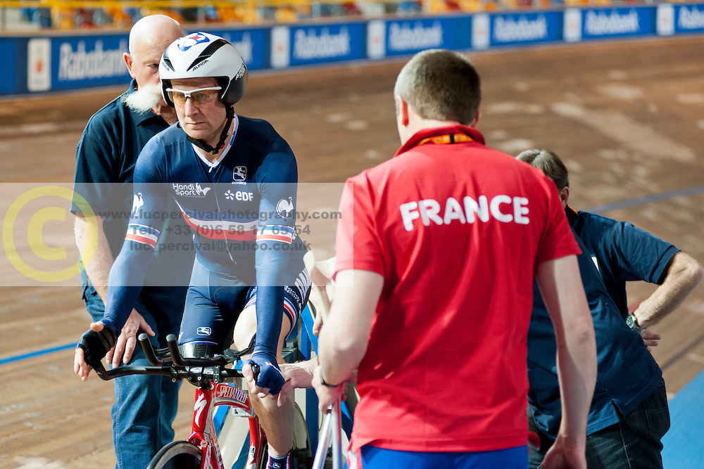 Stephane Bahier, FRA, 1km TT, 2015 UCI Para-Cycling Track World Championships, Apeldoorn, Netherlands