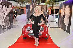 Marilyn Monroe lookalike SUZI KENNEDY at a private view of Marilyn - The Legacy of a Legend held at the Design Centre, Chelsea Harbour, London on 25th May 2016.