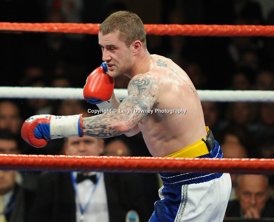 Ricky Burns (pictured) defeats Michael Katsidis for WBO Lightweight Title at Wembley Arena on the 05.11.11. Promoter Frank Warren.Photo credit: © Leigh Dawney 2011.