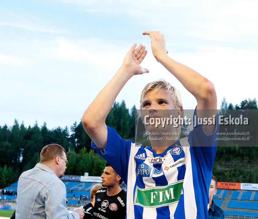 Juhani Ojala.  FC Lahti - HJK. Veikkausliiga. Lahti 22.8.2010. Photo: Jussi Eskola