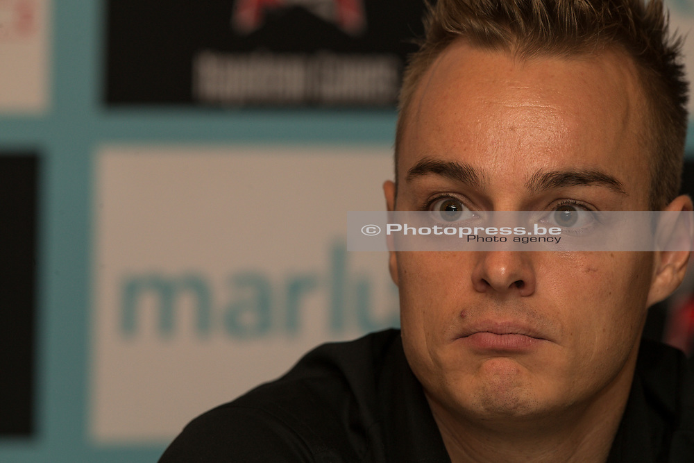 BELGIUM / BELGIE / WAASMUNSTER / CYCLING / WIELRENNEN / CYCLISME / CYCLOCROSS / VELDRIJDEN /  GIANNI MEERSMAN PRESENTED AS NEW SPORTS DIRECTOR OF THE MARLUX - NAPOLEON GAMES TEAM /
