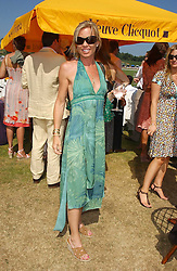 Record breaking Mountaineer ANNABELLE BOND at the Veuve Clicquot sponsored Gold Cup Final or the British Open Polo Championship held at Cowdray Park, West Sussex on 17th July 2005.<br />