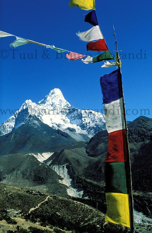 Nepal - Region du Khumbu - Montagne Ama Dablam 6856 m d'altitude