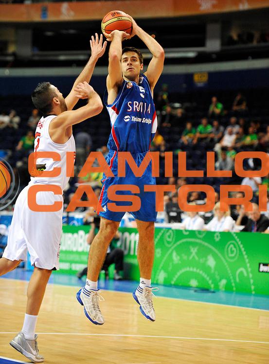 DESCRIZIONE : Vilnius Lithuania Lituania Eurobasket Men 2011 Second Round Spagna Serbia Spain Serbia<br /> GIOCATORE : Milenko Tepic<br /> CATEGORIA : tiro penetrazione<br /> SQUADRA : Serbia<br /> EVENTO : Eurobasket Men 2011<br /> GARA : Spagna Serbia Spain Serbia<br /> DATA : 09/09/2011<br /> SPORT : Pallacanestro <br /> AUTORE : Agenzia Ciamillo-Castoria/JF Molliere<br /> Galleria : Eurobasket Men 2011<br /> Fotonotizia : Vilnius Lithuania Lituania Eurobasket Men 2011 Second Round Spagna Serbia Spain Serbia<br /> Predefinita :