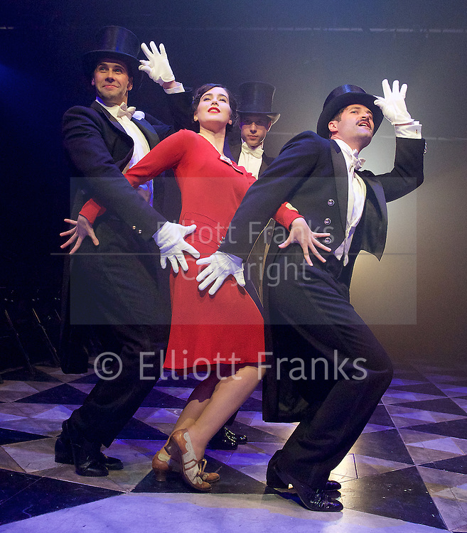 Grand Hotel <br /> produced by Danielle Tarento<br /> Book by Luther Davis<br /> Music and Lyrics by George Forrest and Robert Wright<br /> Additional Music and Lyrics by Maury Yeston<br /> at Southwark Playhouse, London, Great Britain <br /> press photocall <br /> 4th August 2015 <br /> <br /> Victoria Serra as Flaemmchen <br /> and Company <br /> <br /> <br /> Photograph by Elliott Franks <br /> Image licensed to Elliott Franks Photography Services