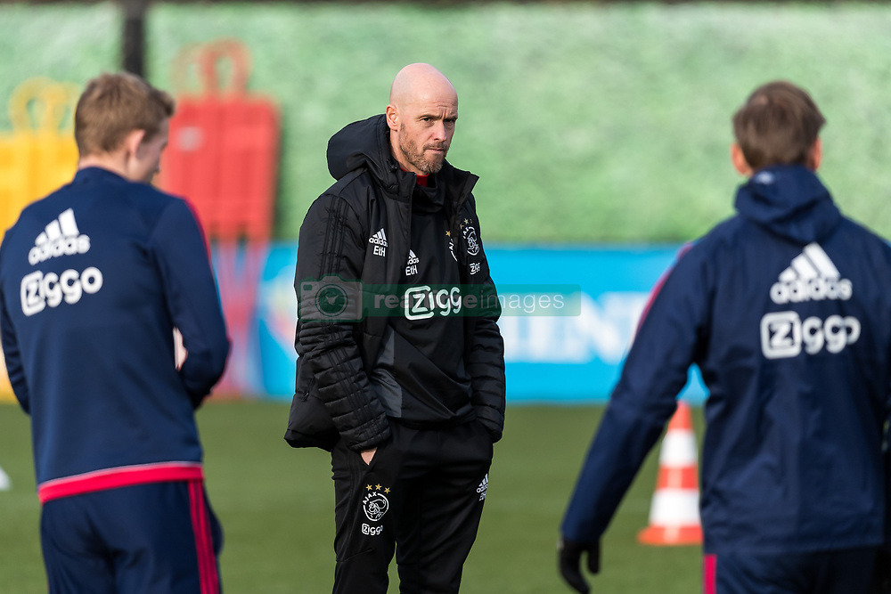 coach Erik ten Hag of Ajax during the trainings session of Ajax Amsterdam at the Toekomst on January 30, 2018 in Amsterdam, The Netherlands