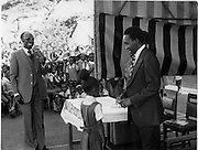 Price Giving Day in Kibera Primary on the introduction to ties to the shcool.  (1974)