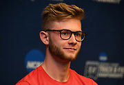 Josh Kerr of New Mexico during a press conference prior to the NCAA Track and Field Championships in College Station, Texas on Thursday, March 8, 2018.