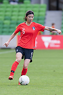 MELBOURNE, VIC - MARCH 06: Sera Park (5) of Korea Republic controls the ball during The Cup of Nations womens soccer match between New Zealand and Korea Republic on March 06, 2019 at AAMI Park, VIC. (Photo by Speed Media/Icon Sportswire)