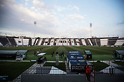 THESSALONIKI, GREECE - AUGUST 16: General view of the stadium during training ahead of the UEFA Europa League Qualifying Play-Offs round first leg match between PAOK Saloniki and &Ouml;stersunds FK at Toumba Stadium on August 16, 2017 in Thessaloniki, Greece. Foto: Nils Petter Nilsson/Ombrello<br /> ***BETALBILD***