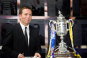 SKY Sports News presenter David Tanner - William Hill Scottish Cup 4th round draw - Interim WBO world lightweight champion Ricky Burns and Kristof Fahy, Chief Marketing Officer at William Hill, conduct the draw at Hampden Park.. .- © David Young -.5 Foundry Place - .Monifieth - .Angus - .DD5 4BB - .Tel: 07765 252616 - .email: davidyoungphoto@gmail.com - .http://www.davidyoungphoto.co.uk