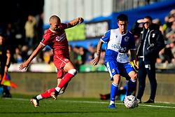 Michael Kelly of Bristol Rovers is marked by Luke Coulson of Bromley - Mandatory by-line: Ryan Hiscott/JMP - 10/11/2019 - FOOTBALL - Memorial Stadium - Bristol, England - Bristol Rovers v Bromley - Emirates FA Cup first round