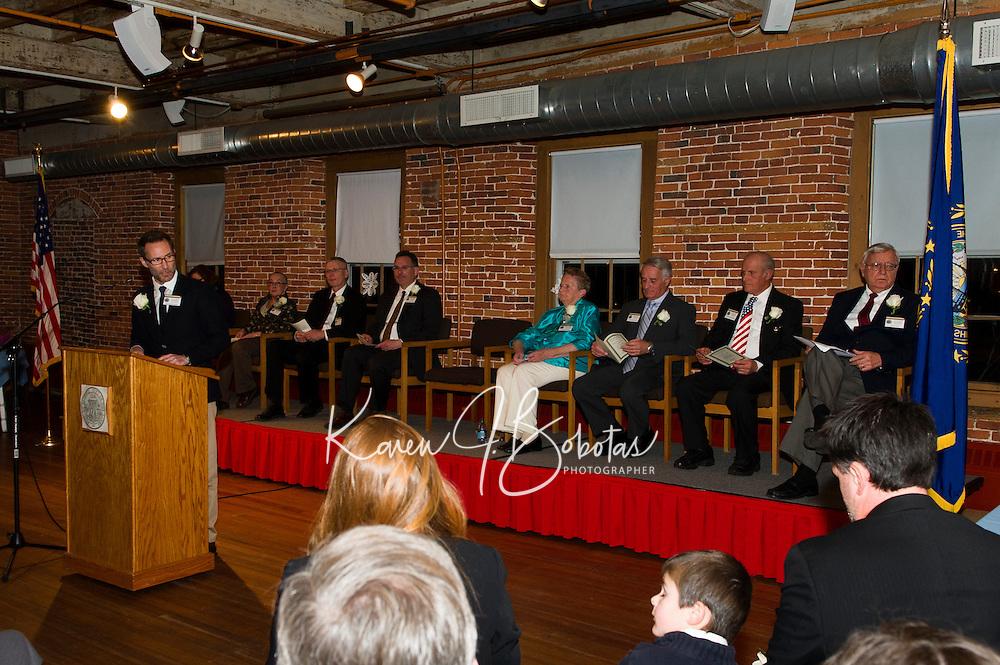 Inauguration ceremony for Mayor Edward Engler at the Belknap Mill.  Karen Bobotas/for the Laconia Daily Sun