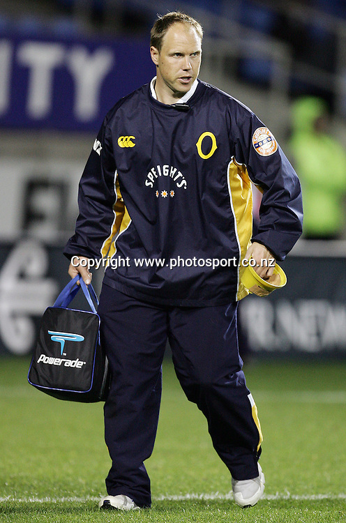 Otago trainer Jeff Wilson during the Air NZ Cup week 9 rugby match between Auckland and Otago at Eden Park, Auckland, New Zealand on Saturday 23 September, 2006. Auckland won the match 48-7. Photo: Hannah Johnston/PHOTOSPORT<br />