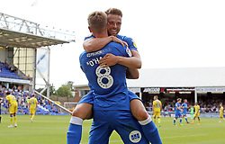 Mark O'Hara of Peterborough United celebrates scoring his sides second goal of the game with team-mate Matt Godden - Mandatory by-line: Joe Dent/JMP - 04/08/2018 - FOOTBALL - ABAX Stadium - Peterborough, England - Peterborough United v Bristol Rovers - Sky Bet League One
