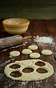 Photograph of biscuits for the Little House Cookbook.