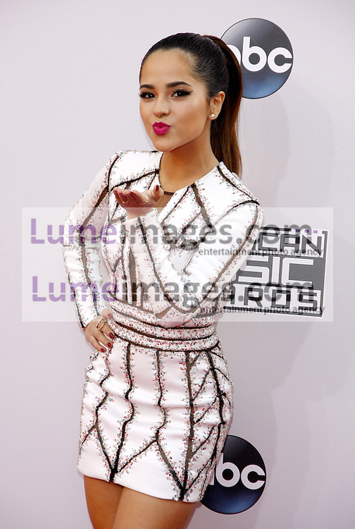 Becky G at the 2014 American Music Awards held at the Nokia Theatre L.A. Live in Los Angeles on November 23, 2014 in Los Angeles, California. Credit: Lumeimages.com