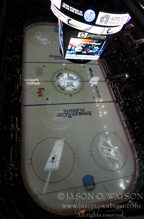 May 22, 2011; San Jose, CA, USA; General view of HP Pavilion before game four of the western conference finals of the 2011 Stanley Cup playoffs between the San Jose Sharks and the Vancouver Canucks. Mandatory Credit: Jason O. Watson / US PRESSWIRE