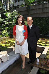 JIMMY CHOO and MIRIAM CLEGG at the 2011 RHS Chelsea Flower Show VIP & Press Day at the Royal Hospital Chelsea, London, on 23rd May 2011.