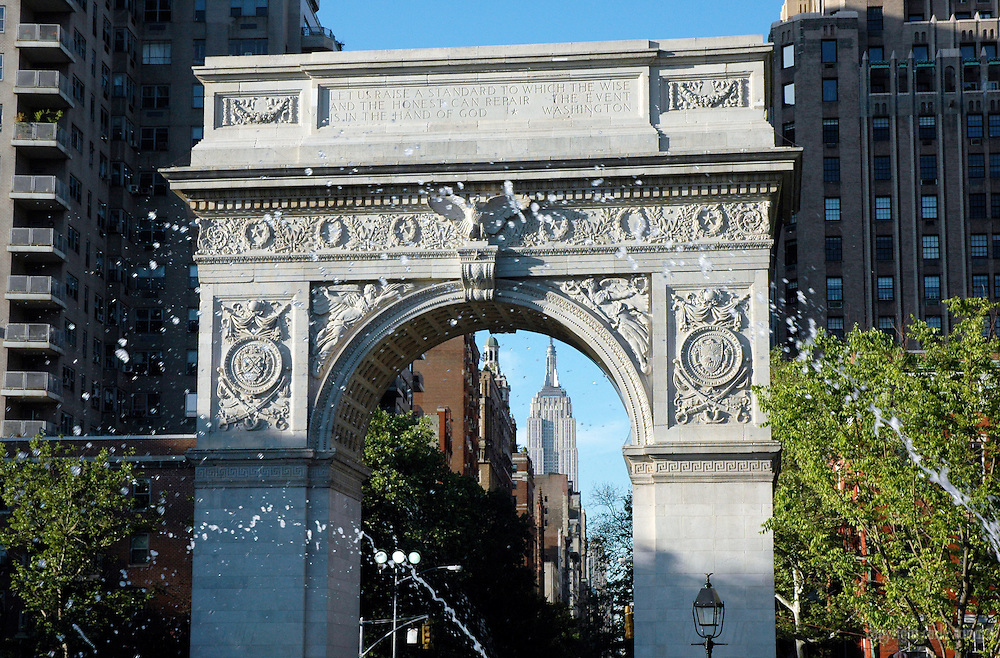 Washington Square Arch and Empire State Building
