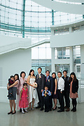 MeChing and Kevin celebrate their wedding with family and friends at San Jose City Hall in San Jose, California, on January 8, 2018. (Stan Olszewski/SOSKIphoto)
