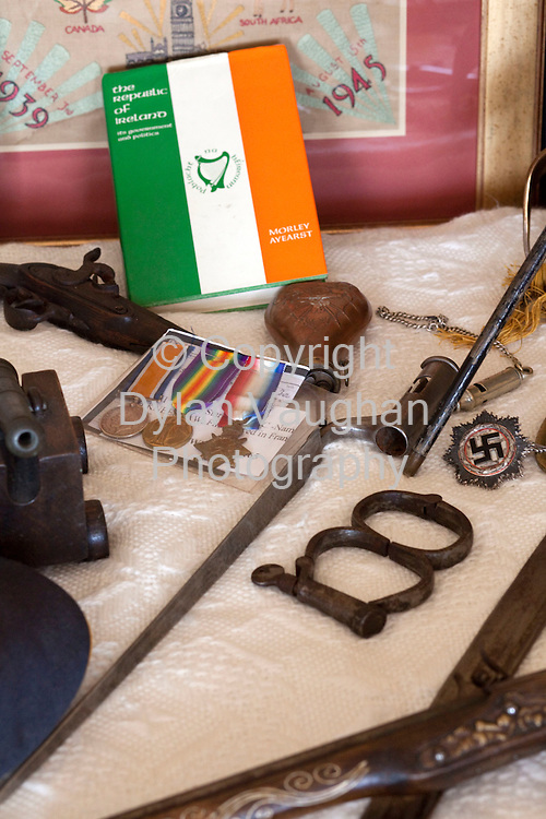 2/1/2009.Some of Stephen Quinns war memorabilia at his home in Graiguenamanagh County Kilkenny.. Picture Dylan Vaughan.