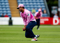 Max Holden of Middlesex catches Fakhar Zaman of Glamorgan<br /> <br /> Photographer Simon King/Replay Images<br /> <br /> Vitality Blast T20 - Round 4 - Glamorgan v Middlesex - Friday 26th July 2019 - Sophia Gardens - Cardiff<br /> <br /> World Copyright © Replay Images . All rights reserved. info@replayimages.co.uk - http://replayimages.co.uk