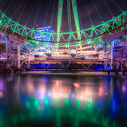 I love photographing the London Eye. So often the colours change and on this evening it had become green for St. Patrick's Day, leaving beautiful reflections in The Thames