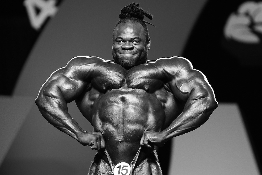 Kai Greene competing at the 2010 Mr. Olympia finals in Las Vegas.