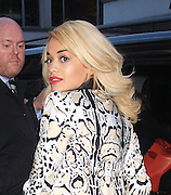 05.NOVEMBER.2012. LONDON<br /> <br /> RITA ORA IN HER 3RD OUFIT OF THE DAY AS SHE LEAVES THE ASAIN RADIO STATION WISE BUDDAH IN CENTRAL LONDON.<br /> <br /> BYLINE: EDBIMAGEARCHIVE.CO.UK<br /> <br /> *THIS IMAGE IS STRICTLY FOR UK NEWSPAPERS AND MAGAZINES ONLY*<br /> *FOR WORLD WIDE SALES AND WEB USE PLEASE CONTACT EDBIMAGEARCHIVE - 0208 954 5968*