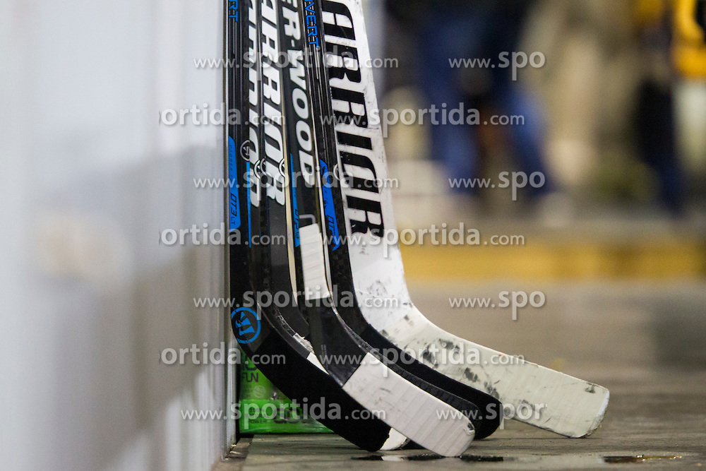 Hockey stick during Inter National League ice hockey match between HK Playboy Slavija and HK ECE Celje, on September 30, 2015, in Ledena Dvorana Zalog, Ljubljana, Slovenia. Photo by Urban Urbanc / Sportida