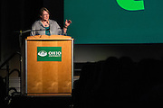 University College Dean and Vice Provost Elizabeth Sayrs addresses students and parents during the Ohio University Welcome on Wednesday, June 3, 2015 as a part of Bobcat Student Orientation.  Photo by Ohio University  /  Rob Hardin