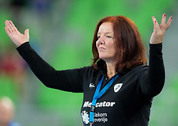 Marta Bon, head coach of Krim during handball match between RK Krim Mercator (SLO) and Dinamo - Sinara (RUS) in 4th Round of Women's EHF Champions League 2014/15, on November 9, 2014 in Arena Stozice, Ljubljana, Slovenia. Photo by Vid Ponikvar / Sportida