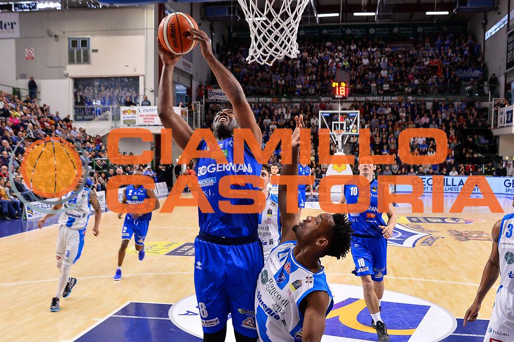 Marcus Landry<br /> Banco di Sardegna Dinamo Sassari - Germani Basket Leonessa Brescia<br /> Legabasket Serie A LBA PosteMobile 2017/2018<br /> Sassari, 08/04/2018<br /> Foto L.Canu / Ciamillo-Castoria