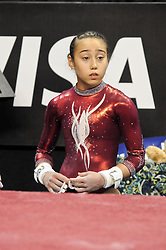 June 10, 2012 - St. Louis, Missouri, United States of America - KATELYN OHASHI during the final day of the 2012 Visa Championships, USA Gymnastic's national championships,  Women's Junior Competition in St. Louis, MO.  OHASHI would finish in 5th place and become a member of the National Team. (Credit Image: © Richard Ulreich/ZUMApress.com)