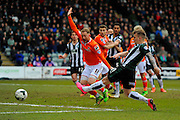 Plymouth Argyle's Gregg Wylde has a shot at goal during the Sky Bet League 2 match between Plymouth Argyle and Luton Town at Home Park, Plymouth, England on 19 March 2016. Photo by Graham Hunt.