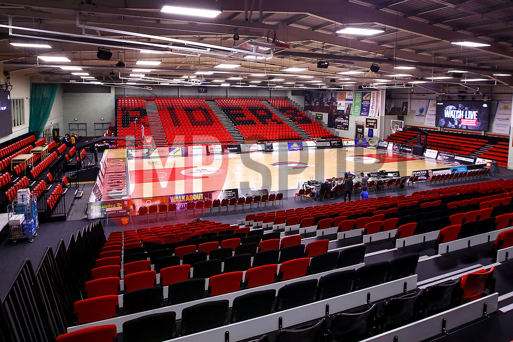 A general view of The Leicester Sports Arena, home to Leicester Riders - Photo mandatory by-line: Robbie Stephenson/JMP - 11/01/2019 - BASKETBALL - Leicester Sports Arena - Leicester, England - Leicester Riders v Bristol Flyers - British Basketball League Championship