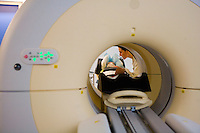 PET machine, nuclear medicine, Positron Emission Topography....Hospital St. Louis, Paris
