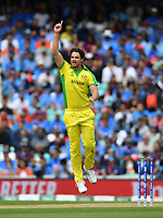 Cricket - 2019 ICC Cricket World Cup - Group Stage: India vs. Australia<br /> <br /> Australia's Nathan Coulter-Nile celebrates taking the wicket of India's Rohit Sharma caught by Alex Carey for 57, at The Kia Oval.<br /> <br /> COLORSPORT/ASHLEY WESTERN