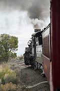 Crossing the New Mexico State Line on the historic Cumbres & Toltec Scenic Railroad.