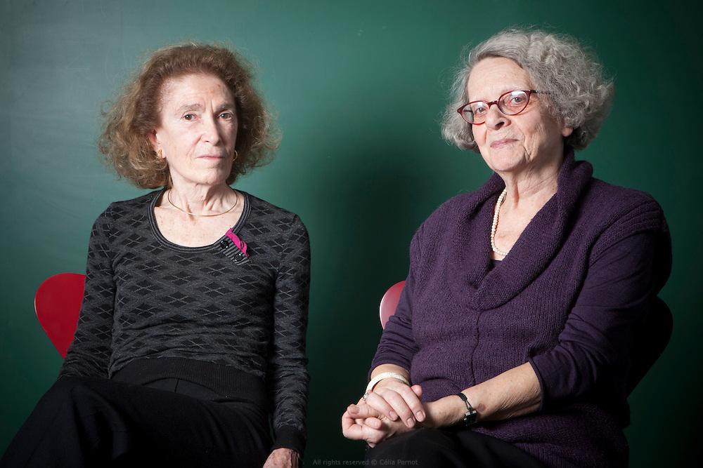 Monique Chevillier-Gendreau et Mireille Delams-Marty au collège de France.