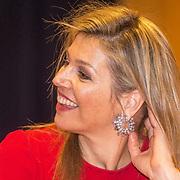 NLD/Leiden/20180412 - Maxima bezoekt workshop digitaal componeren, Koningin Maxima