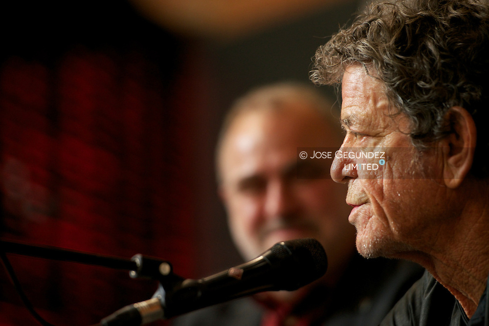 Lou Reed attends the Opening of his exhibition at the Matadero on November 16, 2012 in Madrid, Spain