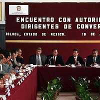 Toluca, Mex.- Enrique Peña Nieto, gobernador del Estado de Mexico, se reunio con las dirigencias Nacional y Estatal del Partido Convergencia. Agencia MVT / Luis Enrique Hernandez V. (DIGITAL)<br /> <br /> NO ARCHIVAR - NO ARCHIVE