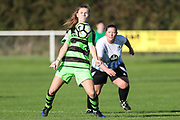 Forest Green Rovers Marika Niekowal(9) controls the ball during the South West Womens Premier League match between Forest Greeen Rovers Ladies and Marine Academy Plymouth LFC at Slimbridge FC, United Kingdom on 5 November 2017. Photo by Shane Healey.
